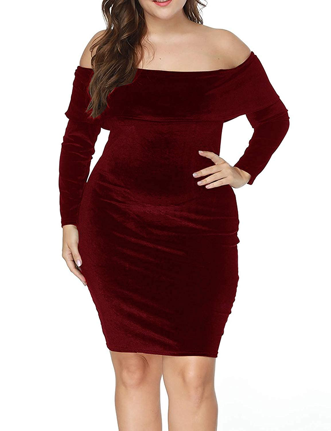 a9691d2a5eb Top 10 wholesale Plus Size Red Off The Shoulder Dress - Chinabrands.com