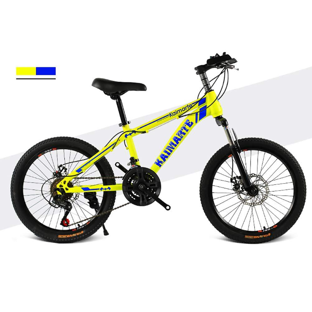 tienda de pescado para la venta amarillo Unisexo Bicicleta de montaña de suspensión 20 Pulgadas Freno Freno Freno de Disco Doble 21 Velocidad Acero de Alto Carbono Estudiante Niño Ciudad del Viajero Bicicleta,azul  apresurado a ver