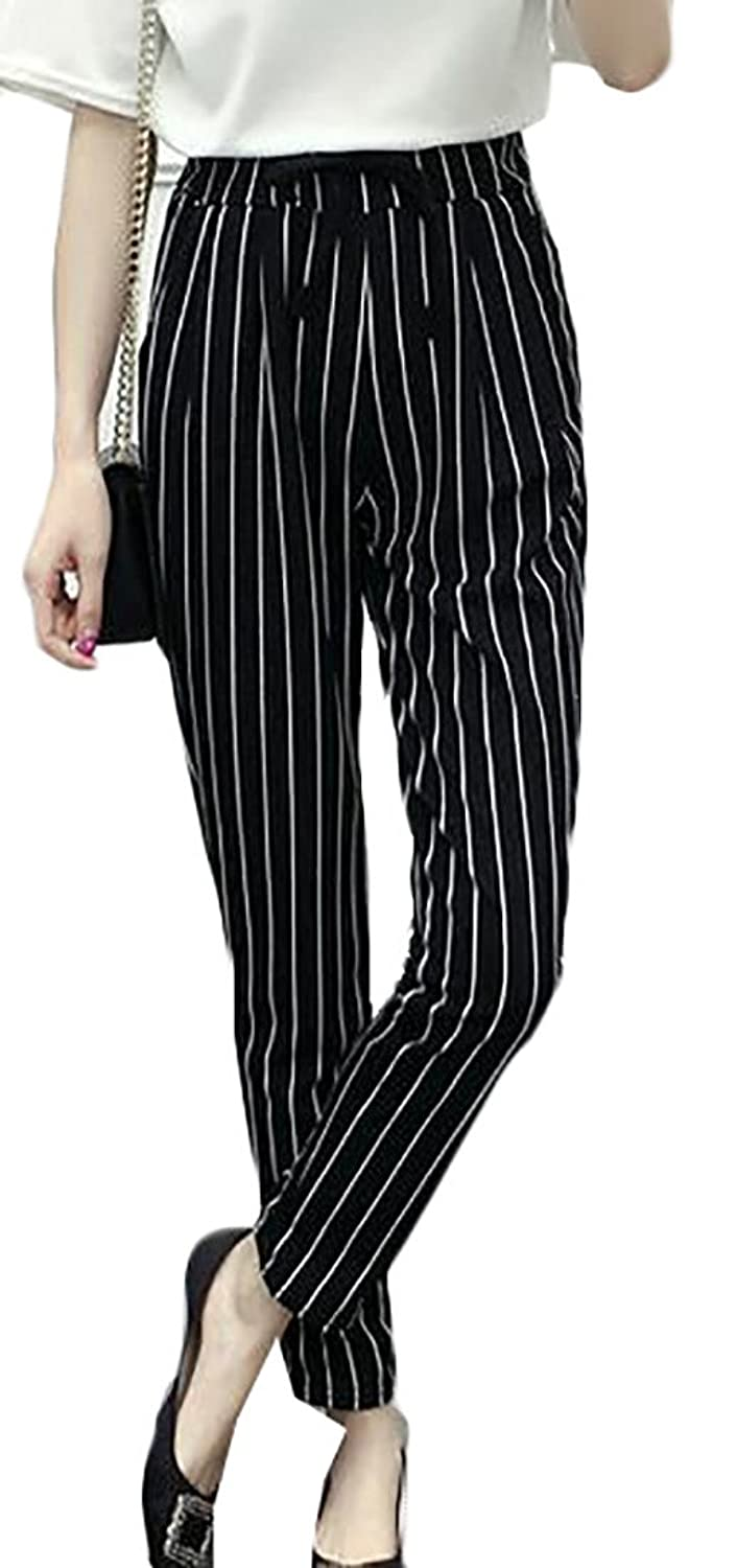 ARRIVE GUIDE Women Fashion Striped Pocket Drawstring Harem Pencile Pants supplier
