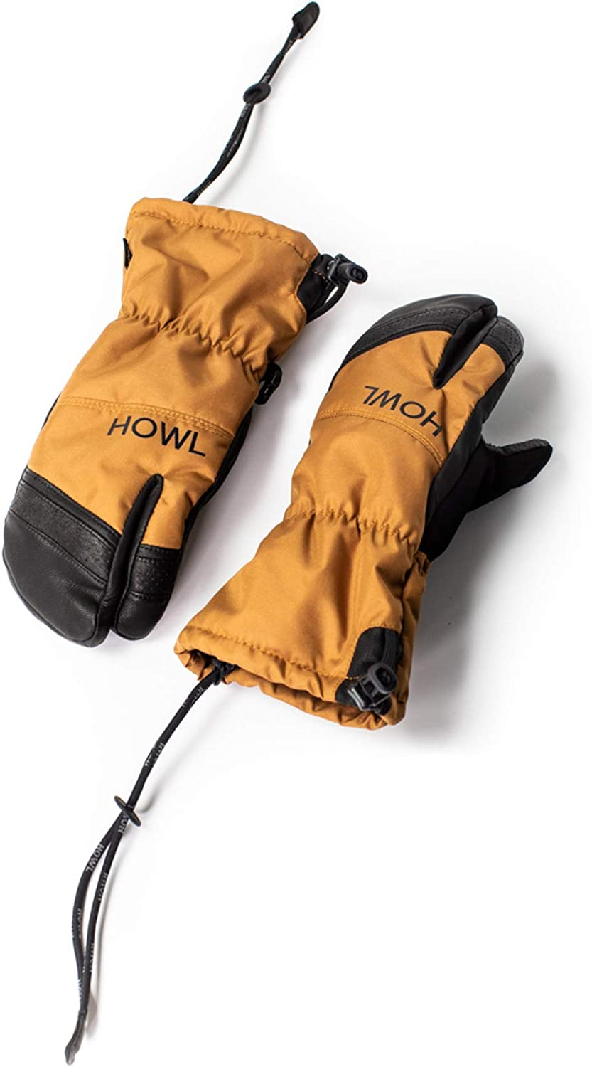 Thermal Mitten for Snowboarding Skiing HOWL TRIGGER: Warm Winter Snow Mittens Large