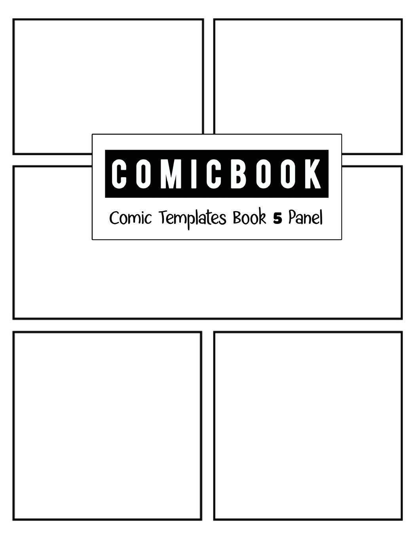 5 panel comic strip template  Comic Book 5 Panel: Templates Comic Blank Book Panel Strip ...