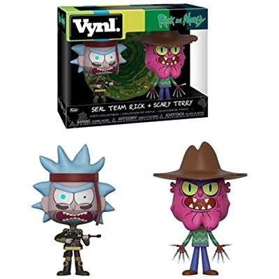 Funko Vynl: Rick & Morty - Seal Rick and Scary Terry Collectible Figure, Multicolor: Toys & Games