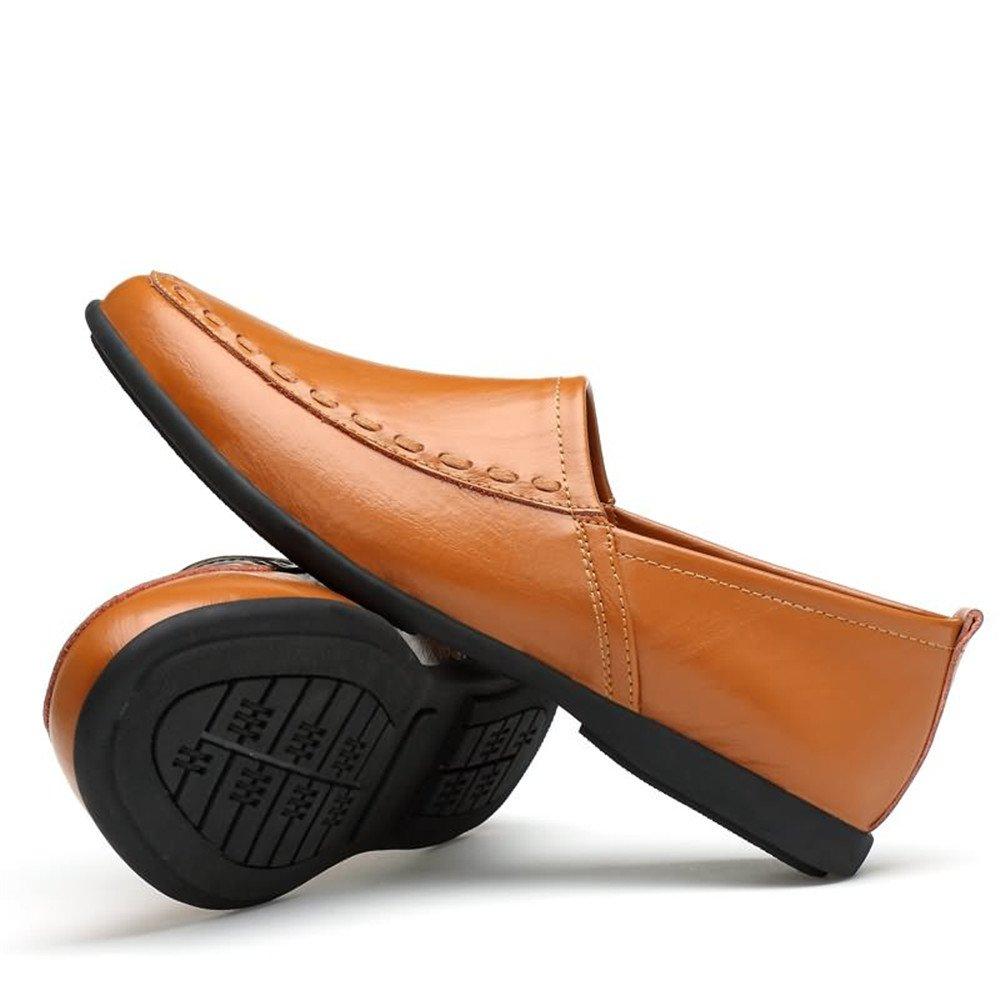 Xiazhi schuhe,   Herren Flexible Drive Slipper Casual Weichen große Echtleder Breathable Niedrig Top große Weichen Größe Boot Mokassins, (Farbe : Gold Yellow, Größe : 38 EU) 3cba69