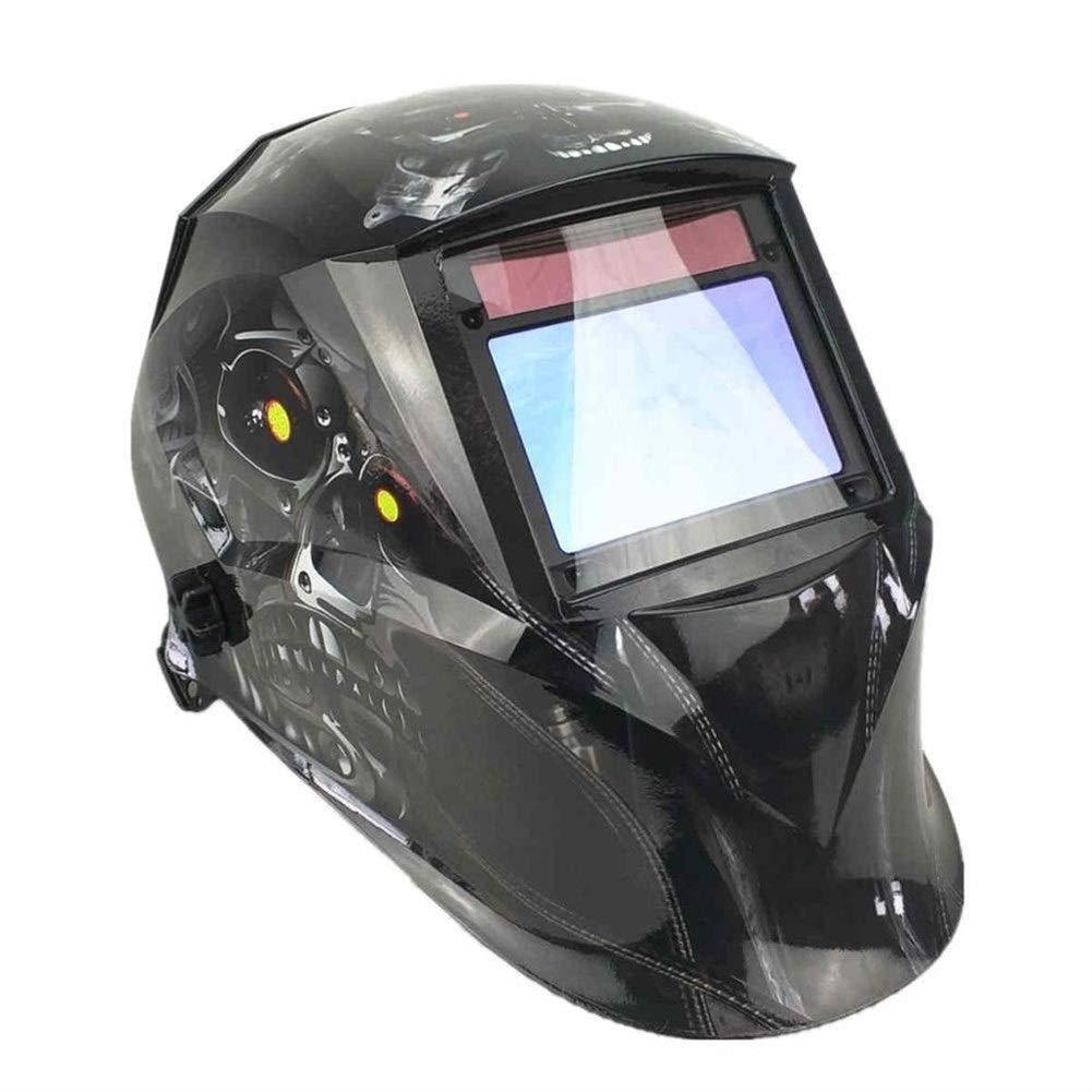 YUANYUAN521 Welding Helmet 10065mm 1111 4 Sensors Grinding DIN 3/4-13 MMA MIG/MAG TIG CE/UL/CSA/AS Cert Solar Auto Darkening Welding Mask (Color : Robot Skull) by YUANYUAN521