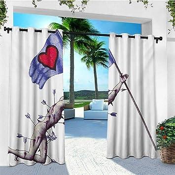 Cortinas Leinuoyi Love, con ojales para exteriores, diseño de hombre y mujer del espacio para San Valentín besando la ciencia, Cosmos para parejas, Pop Art, paneles de cortina para exteriores, impermeables, multicolor: