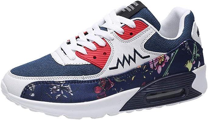 Zapatillas Running para Hombre Aire Libre y Deporte Mesh Malla de Tela de Flores Net para Estudiante Volar Zapatos Casual Deportivos Gimnasia Montañismo Sneakers 39-44 riou: Amazon.es: Zapatos y complementos