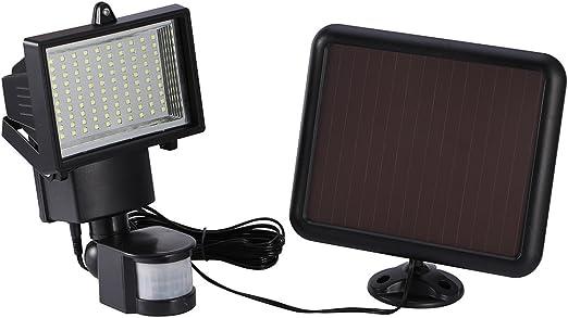 Luces Solares, 100 LED SMD Luces de Pared Impermeable Exterior con Sensor de Movimiento Batería Solar Exterior para Jardín, Patio, Terraza, Inicio, Camino, Escalera Exterior: Amazon.es: Iluminación