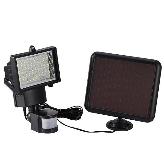 Proyector LED Detector Movimiento, luz exterior impermeable – luz de seguridad lámpara Solar detector de