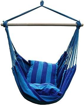Hamaca Grande, Hamaca Silla Colgante de Cuerda Silla Columpio Asiento de Viaje Hamaca Columpio para Hamaca para jardín Interior al Aire Libre: Amazon.es: Deportes y aire libre
