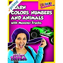 Tea Time with Tayla: Learn Colors, Numbers, and Animals with Monster Trucks and Brain Candy TV