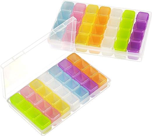 SEELOK Caja Transparente Compartimentos YGS 2pcs para organizar ...