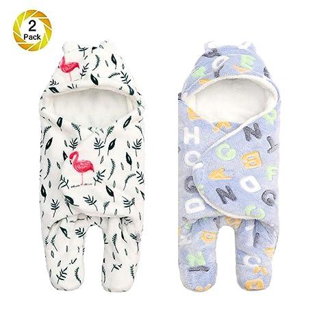 Saco para bebé Envoltura gruesa Saco Manta con pierna y gorra Niño niña, Saco de