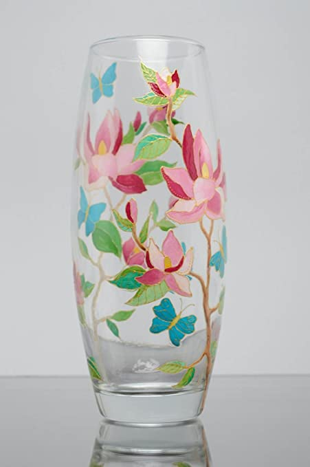 Stained Glass Painted Flower Vase Amazon Kitchen Home