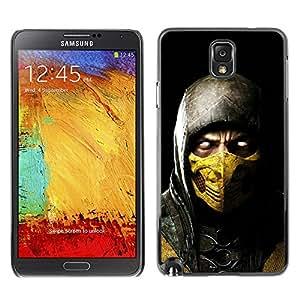 ROKK CASES / Samsung Note 3 N9000 N9002 N9005 / SCORPION MK MORTAL COMBAT / Delgado Negro Plástico caso cubierta Shell Armor Funda Case Cover