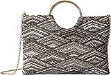 Jessica McClintock Sonia Ring Bag, Black/White