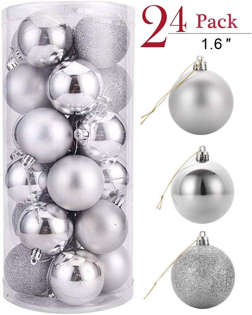 YIKEF 24 Piezas Bolas de Navidad de4cm, Adornos Navideños para ...