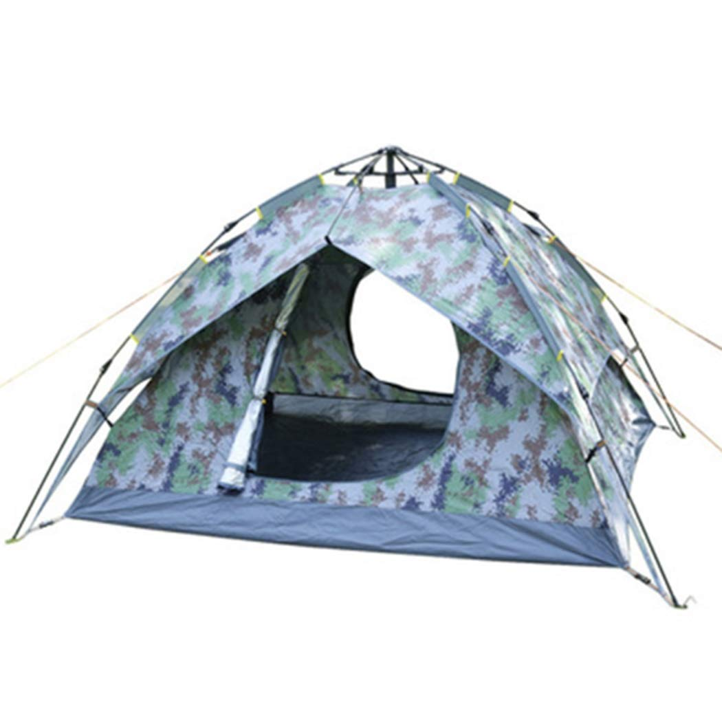 キャンプテント3-4人屋外クイックオープンテント防水&UVプロテクション用ビーチガーデンキャンプ釣りピクニックハイキング   B07QHVW3JT