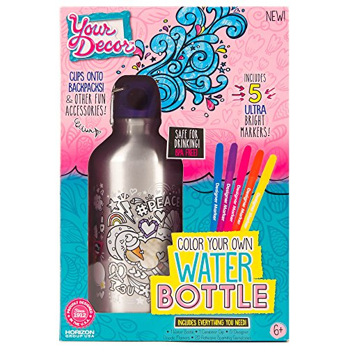 Your Décor Water Bottle by Horizon Group USA (Gift For 11 Yr Old Girl)