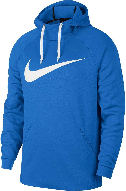 Nike Men's Therma Swoosh Training Hoodie Signal Blue/White Size XX-Large