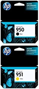 HP 950 Black Original Ink Cartridge (CN049AN) and HP 951 Yellow Original Ink Cartridge (CN052AN) Bundle