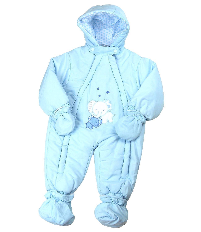BabyPrem Baby Snowsuit Pramsuit Cute Elephant Boy Clothes 9 12