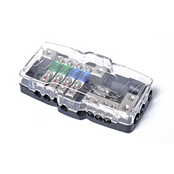 tiyang car audio distribution fuse block with ground mini anl fuse box distribution block 0 4ga 4 way fuses box 30a 60a 80amp red led indicator Car Box Fuse Madza62004