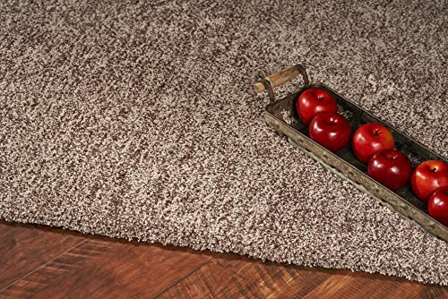 Kas Rugs Bliss Collection Plush Handwoven Shag Rug, 5 x 7 , Beige Heather