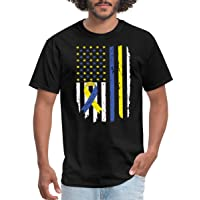 Spreadshirt Down Syndrome Awareness Flag with Ribbon Men's T-Shirt
