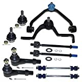 DLZ 10 Pcs Front Suspension Kit-2 Upper Control Arm 2 Lower Ball Joint 2 Inner 2 Outer Tie Rod End Replacement for Ford Explorer Ranger 1998-2001 and Mazda B3000 B4000 1998-2001 CK8708T K8695T EV317