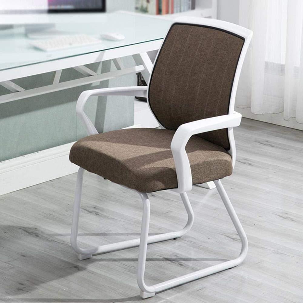 Kontorsstol stabil sovsal skrivbord stol dator stol pall hemträning studenter hållbar (färg: Grön) Brun