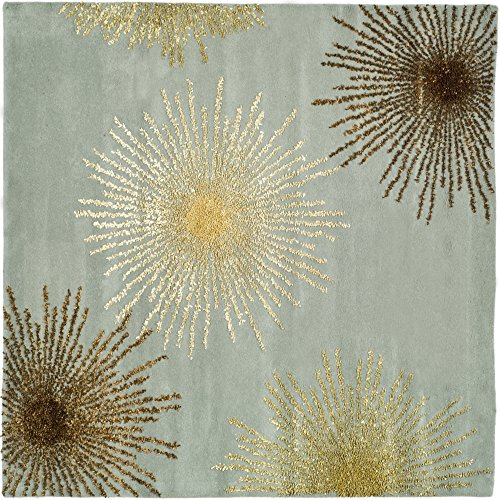 8sq Light Blue Color - Safavieh Soho Collection SOH712C Handmade Fireworks Light Blue and Multicolored Premium Wool Square Area Rug (8' Square)