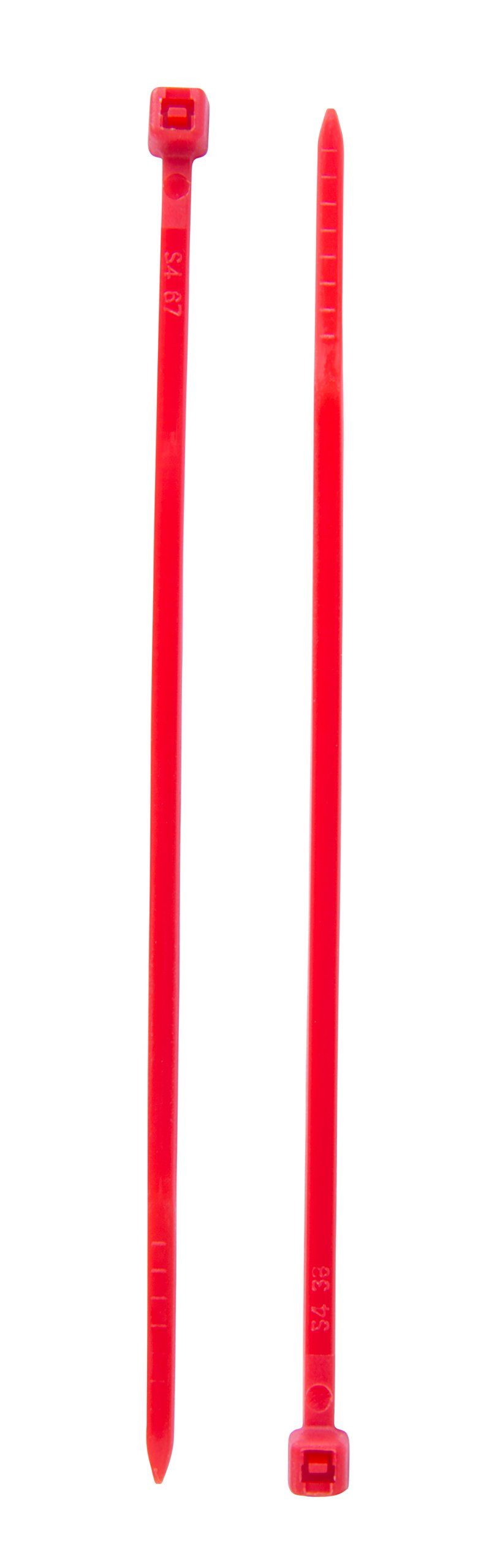 Creative Solutions CS-204R Cable Tie, 4 in, 18 lb, Craft, Wrap & Decorate, Zip Tie, 50 Pk., Red