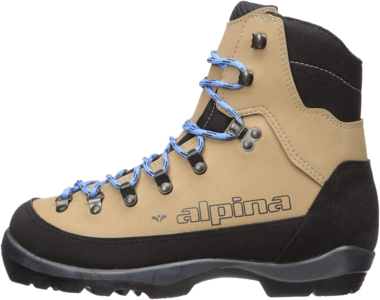 Euro 42 Brown//Black//Blue Alpina Sports Womens Montana Eve Backcountry Cross Country Nordic Ski Boots