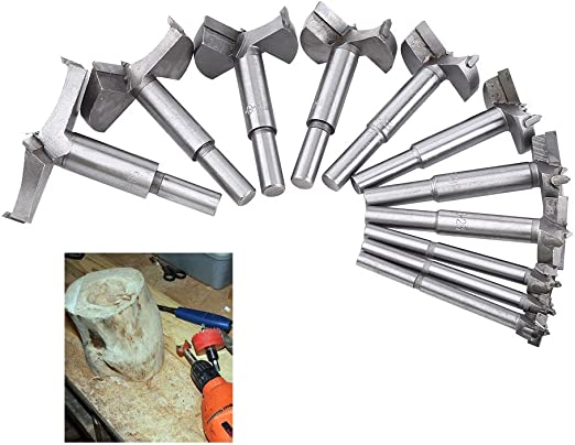 10mm-35mm HSS Forstner Woodworking Boring Wood Hole Saw Cutter Drill Bit Tool