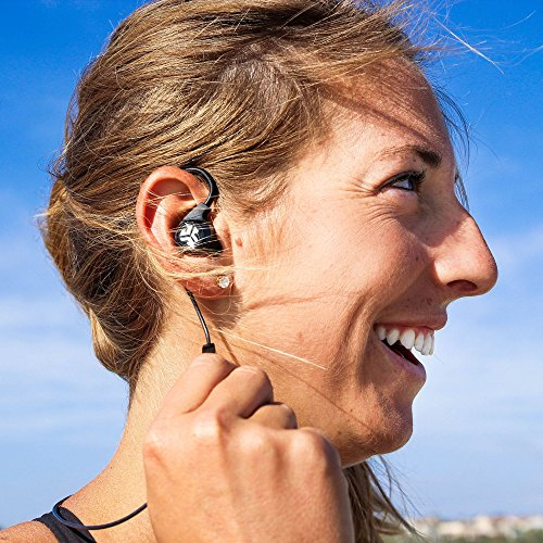 JLab Audio Epic2 Bluetooth 4.0 Wireless Sport Earbuds - Teal - GUARANTEED fitness, waterproof IPX5 rated, pristine high-performance 8mm sound drivers, 12 hr play time w/ microphone (Certified Refurbis by JLAB (Image #8)