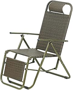 CFSAFAA Deck Chair Outdoor Garden Chairs Lounge ChairFolding Chairsummer Beach Chair Garden Chair Office Siesta ChairBalcony Chairs Reclining Chair