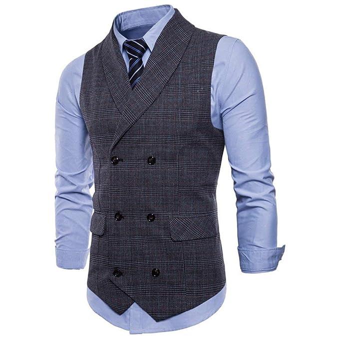26205d3f5b446 Battercake Tops De Los Hombres Vestido Corte Vestir Chaleco De De Slim  Chaleco De Cómodo Hombre Chaleco De Traje Informal Británico Hombres  Chaleco De Doble ...