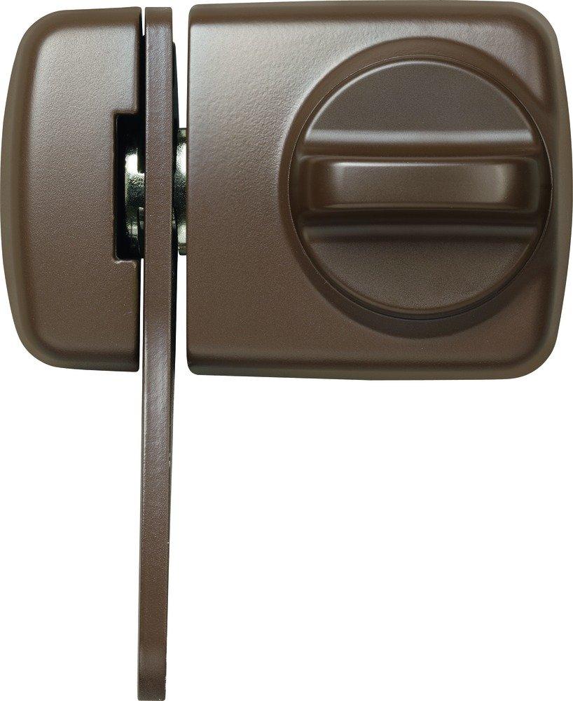 ABUS 589232 7530 B Door Lock with Blocking Clip for Thin Doors Brown