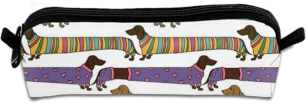 New Dachshund Dog Pouch Make-up//Coin Purse 3 Dachshunds Dogs