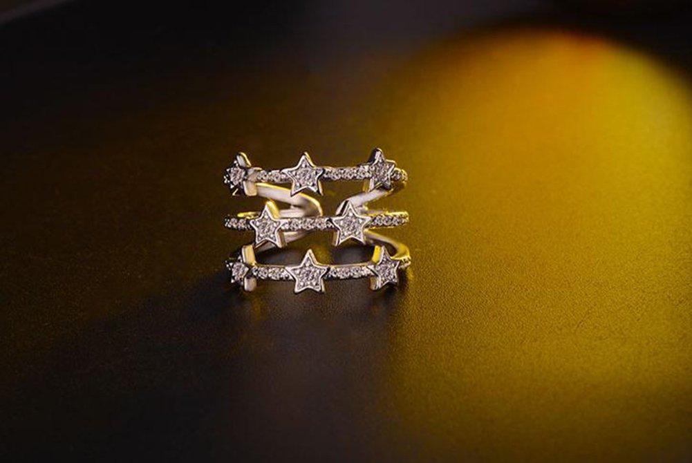Wicemoon Femme Bague R/églable Simplicit/é Argent des anneaux Anneau de la Queue,Fantaisie Bijoux Bague de Fian/çailles Femme Alliance Mariage Anniversaire