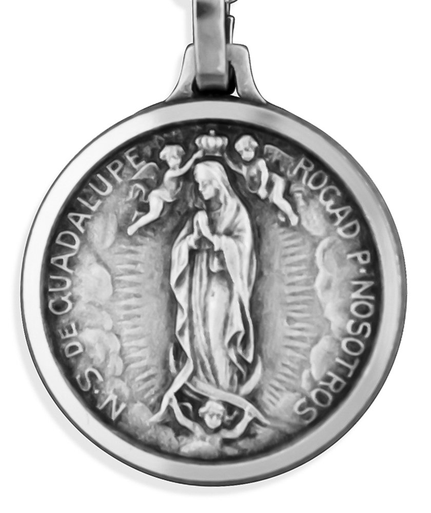 Traditional Our Lady of Guadalupe Medal (23'' Chain)