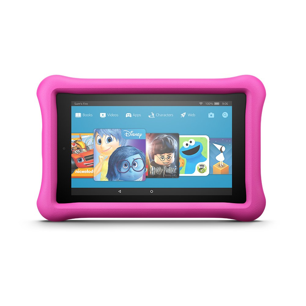 Fire 7 Kids Edition Tablet, 7'' Display, 16 GB, Pink Kid-Proof Case