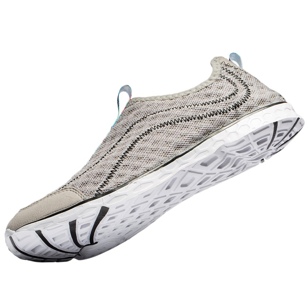 Raotes Quick Drying Aqua Water Shoes - Beach Walking Amphibious Shoes for Men Grey 45 by Raotes (Image #1)