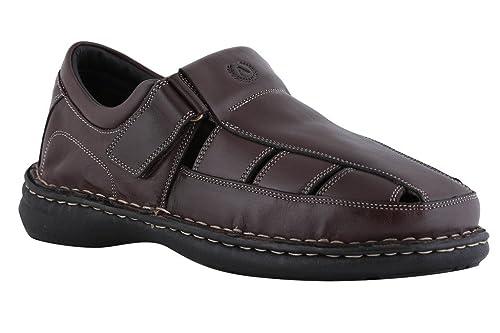0c16c8fb1deaf Amster Men Black Genuine Leather Sandals  Buy Online at Low Prices ...