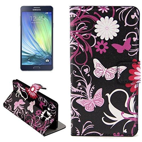 Funda Iphone, Colorful Daisy patrón de flores horizontal Flip caja de cuero con el titular y ranuras de tarjeta para Samsung Galaxy A7 / A700F ( SKU : S-SCS-3771K ) S-SCS-3771B