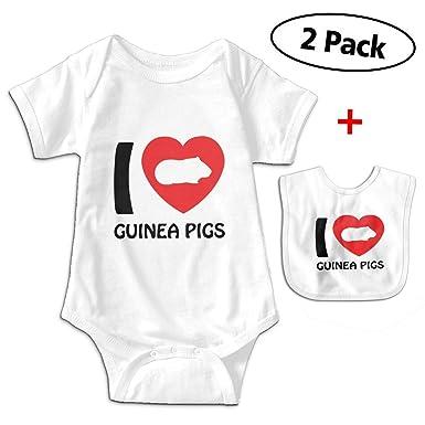 Baby Vest I Love Pigs heart