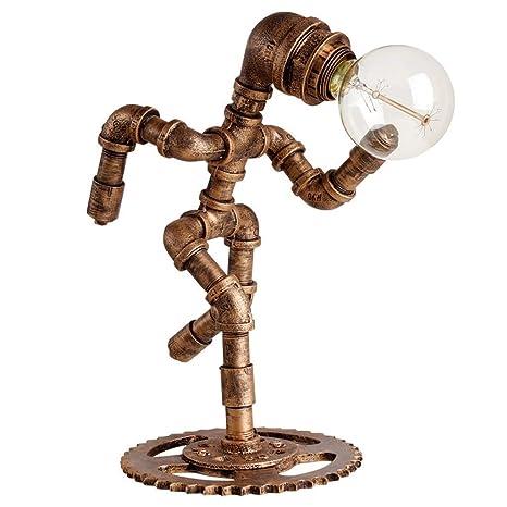 Lámpara de mesa de hierro forjado Retro LOFT Industrial Wind ...