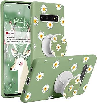 Yoedge Coque Samsung Galaxy A20e avec Support de Bague, Etui en Silicone avec Motif 3D Dessin TPU Antichoc Souple Housse de Protection Case Cover ...