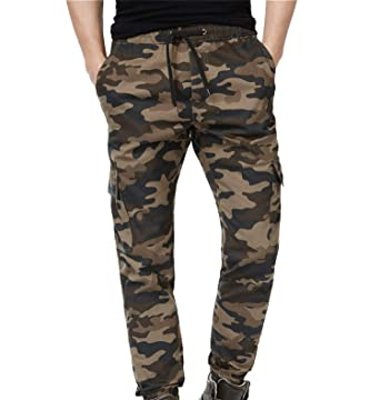 2f4581f236376 ADFOLF Joggers Pants for Men Fashion Cotton Twill Chino Pants Regular Fit  Camo 30W29L