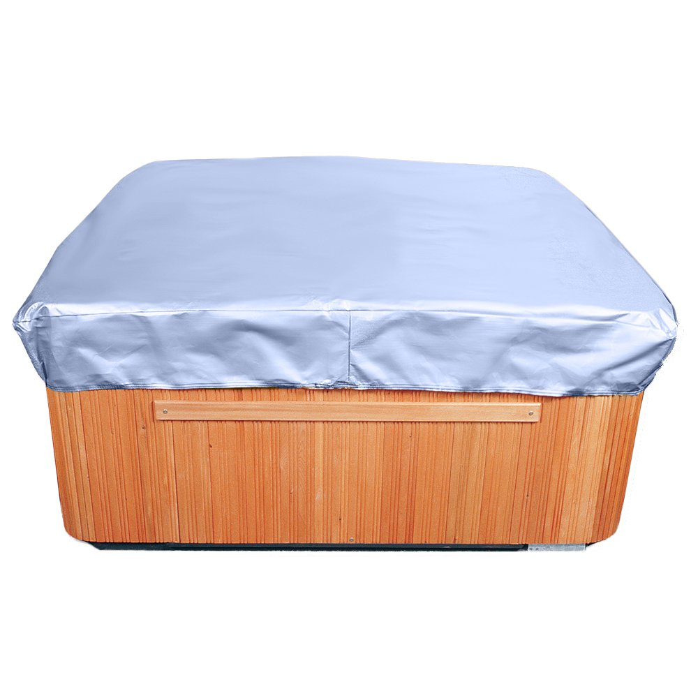 Budge All-Seasons Square Hot Tub Cover P9A16BG1, Blue (14 H x 86 W x 86 L)